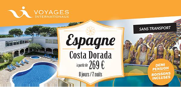 ESPAGNE (Costa Dorada) - Séjour 8 jours / 7 nuits (sans transport)