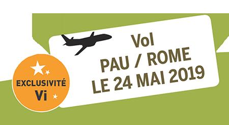vol Pau / Rome du 24 Mai 2019