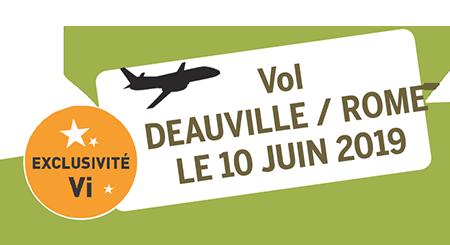 vol Deauville / Rome du 10 Juin 2019