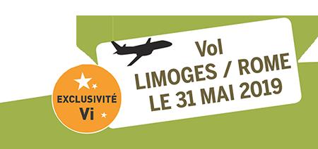 vol Limoges / Rome du 31 Mai 2019