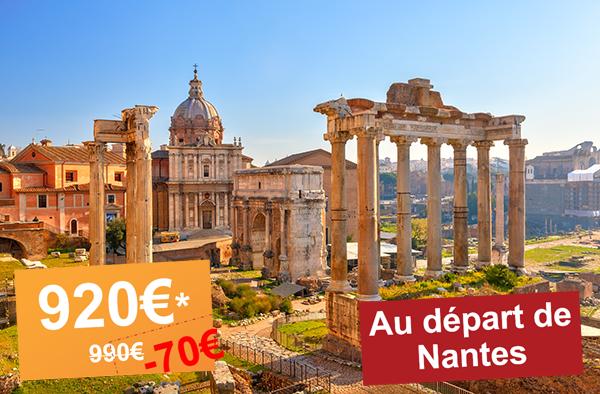 Promo Aéroport de Nantes : Escapade à Rome (5 jours / 4 nuits), départ le 31 Mars !
