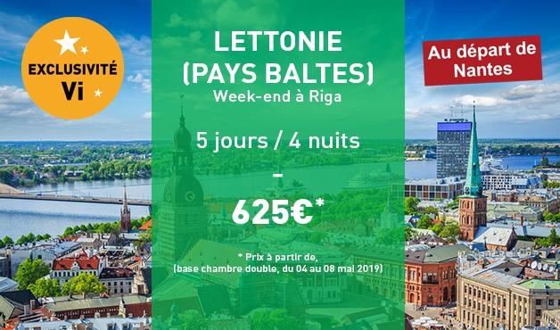 Week-end à Riga (Lettonie - Pays Baltes) - 5 jours / 4 nuits - Du 04 au 08 Mai à partir de 625€